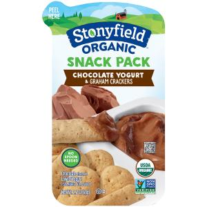 Stonyfield Organic Snack Pack Chocolate Yogurt With
