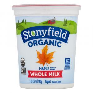 Stoneyfield Organic Whole Milk Maple Yogurt