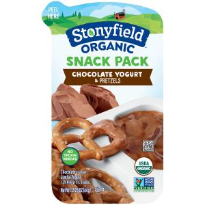 Stonyfield Organic Snack Pack Chocolate Yogurt With Pretzels