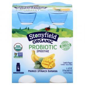 Stonyfield Organic Mango Spinach Banana Smoothie