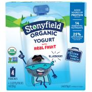 Stonyfield Organic Kids Blueberry Pouch Lowfat Yogurt