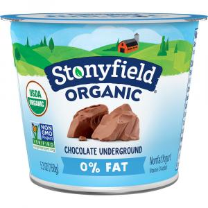 Stonyfield Organic Fat Free Chocolate Underground Yogurt