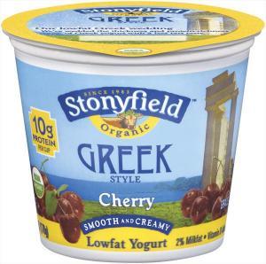 Stonyfield Organic Cherry Greek Style Yogurt