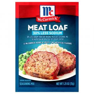 McCormick 30% Less Sodium Meat Loaf Seasoning Mix