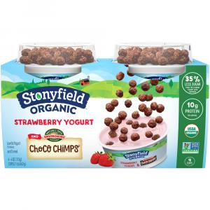 Stonyfield Organic Kids Strawberry Yogurt and Choco Chimps