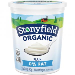 Stonyfield Organic Nonfat Plain Yogurt