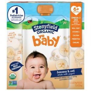 Stonyfield Organic Yo Baby Banana & Oat Whole Milk Yogurt