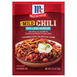 McCormick 30% Less Sodium Mild Chili Seasoning Mix