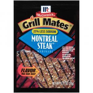 McCormick Grill Mates Montreal Steak 25% Less Sodium