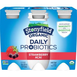 Stonyfield Organic Daily Probiotics Strawberry Acai