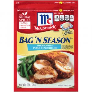 Mccormick Herb Roasted Pork Tenderloin Bag 'n Season