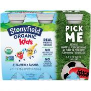 Stonyfield Organic Kids Strawberry Banana Lowfat Smoothie