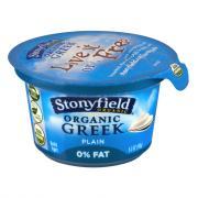 Stonyfield Organic Fat Free Plain Greek Yogurt