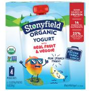 Stonyfield Organic Pear Spinach Mango Whole Milk Yogurt