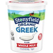 Stonyfield Organic Whole Milk Plain Greek Yogurt