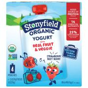 Stonyfield Organic Whole Milk Strawberry-Beet-Berry Yogurt