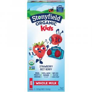 Stonyfield Organic Kids Whole Milk Strawberry Yogurt