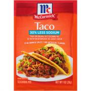 McCormick Less Sodium Taco Seasoning Mix