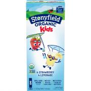 Stonyfield Organic Kids Strawberry Lemonade Yogurt
