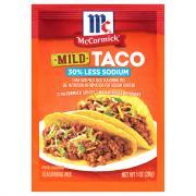 McCormick 30% Less Sodium Mild Taco Seasoning Mix