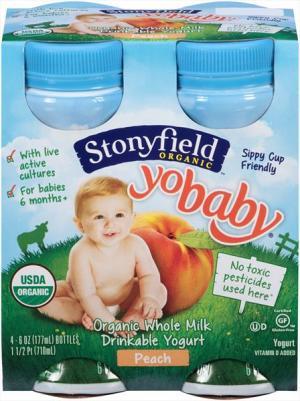 Stonyfield Yobaby Organic Peach Drinkable Yogurt