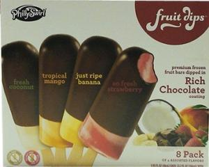 Phillyswirl Fruit Dips Rich Chocolate Bars