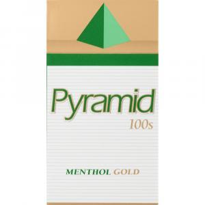 Pyramid 100s Menthol Gold Cigarettes