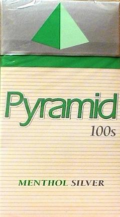 Pyramid 100s Menthol Silver Box Cigarettes