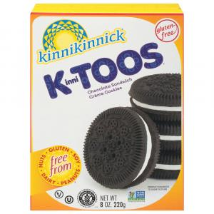 Kinnikinnick Kinnitoos Chocolate Sandwich Cream Cookies