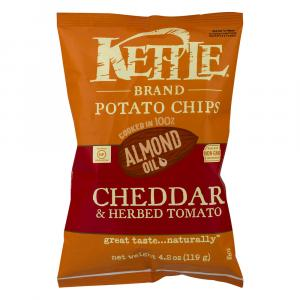 Kettle Almond Oil Cheddar & Herbed Tomato Chips