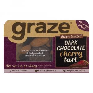 Graze Dark Deconstructed Chocolate Cherry Tart Snack