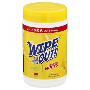 Wipe Out Antibacterial Wipes Lemon Scent