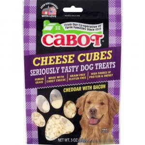 Cabot Cheddar with Bacon Cheese Cubes Seriously Tasty Dog