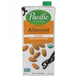 Pacific Natural Foods Organic Vanilla Unsweetened Almond