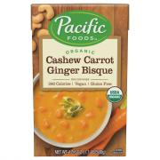 Pacific Natural Foods Organic Cashew Carrot Ginger Bisque