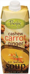 Pacific Creamy Cashew Carrot Ginger Soup