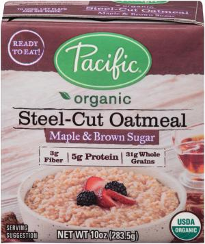 Pacific Organic Steel-cut Oatmeal Maple & Brown Sugar