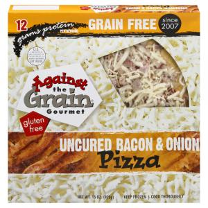 Against The Grain Gourmet Uncured Bacon & Onion Pizza