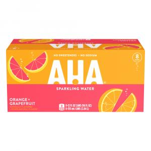 AHA Sparkling Water Orange and Grapefruit