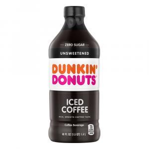 Dunkin Donuts Zero Sugar Unsweetened Iced Coffee