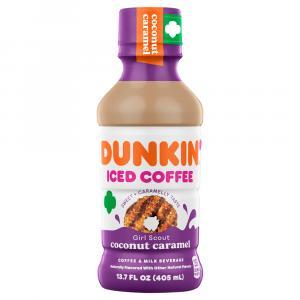 Dunkin Donuts Iced Coffee Coconut Caramel