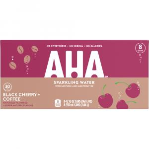 AHA Sparkling Water Black Cherry and Coffee