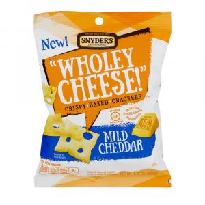 "Snyder's of Hanover ""Wholey Cheese!"" Mild Cheddar Crispy"