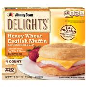 Jimmy Dean Delights Canadian Bacon Honey Wheat Muffins