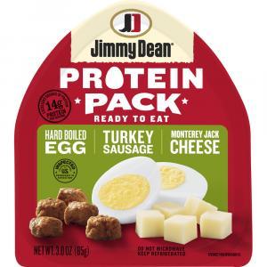 Jimmy Dean Turkey Sausage, Hard Boiled Egg, Monterey Jack