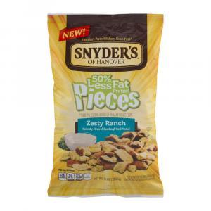 Snyder's Of Hanover 50% Less Fat Pretzel Pieces Zesty Ranch