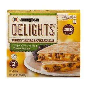 Jimmy Dean Quesadilla Delights Turkey Sausage