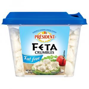 President Fat Free Crumbled Feta Cheese