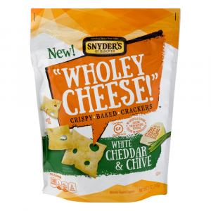Snyder's of Hanover Wholey Cheese White Cheddar & Chive