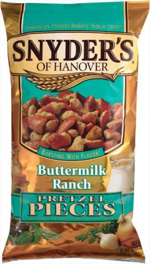 Snyder's Of Hanover Buttermilk Ranch Pretzel Pieces